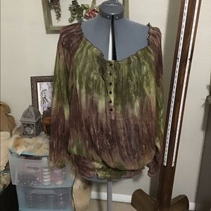 Forest Fae Peasant Style Blouse